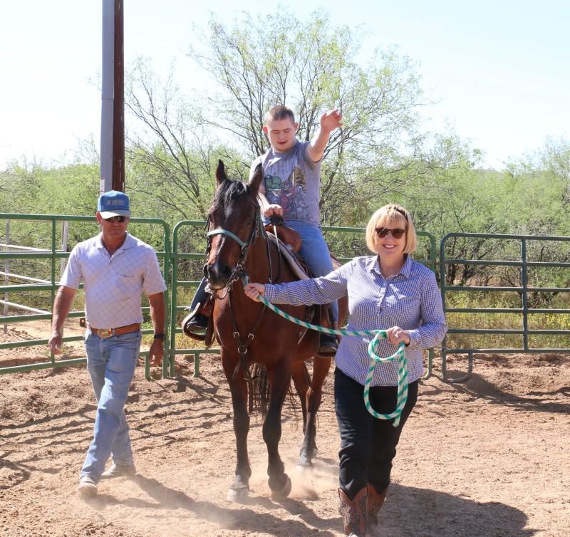 Nate, Tony Diaz and Becky Gurnick